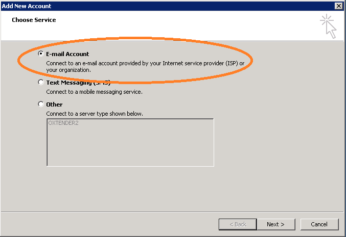 PacHosting - Set Up Email Account in Outlook 2010